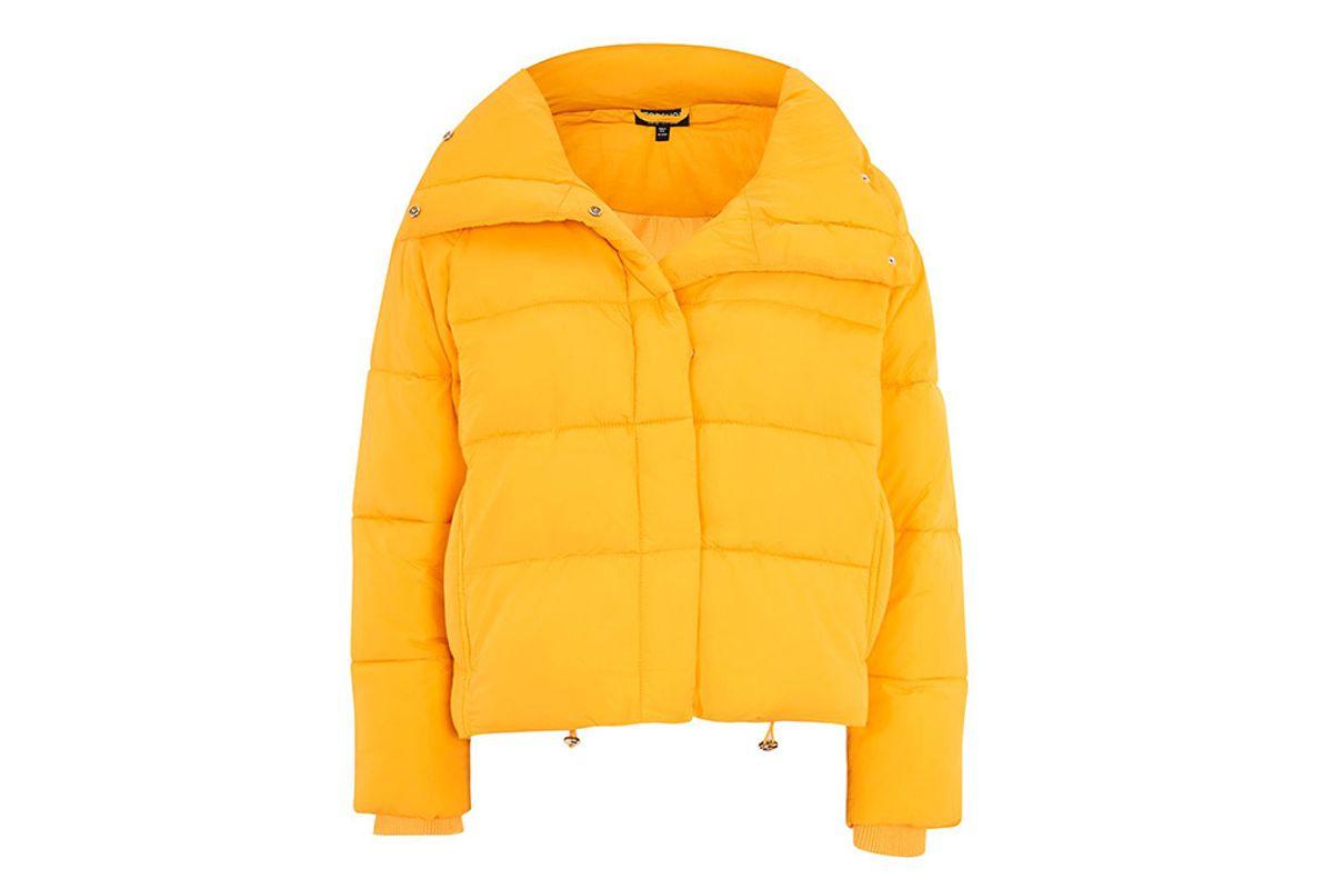 Yellow Wrap Puffer Jacket