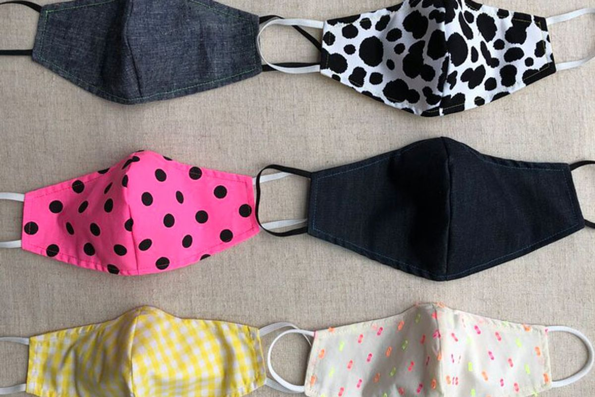abcaxi cotton face mask with filter pocket