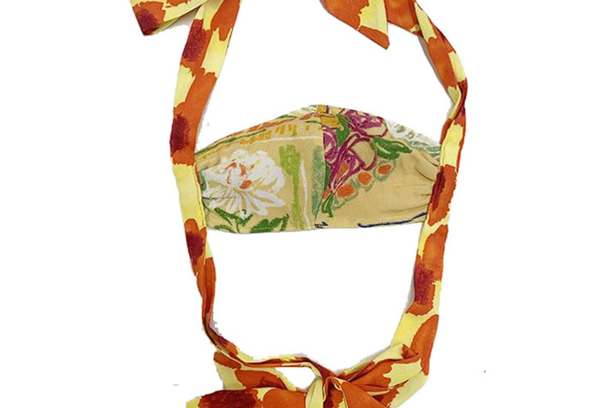 collina strada fashion face mask with bows yellow