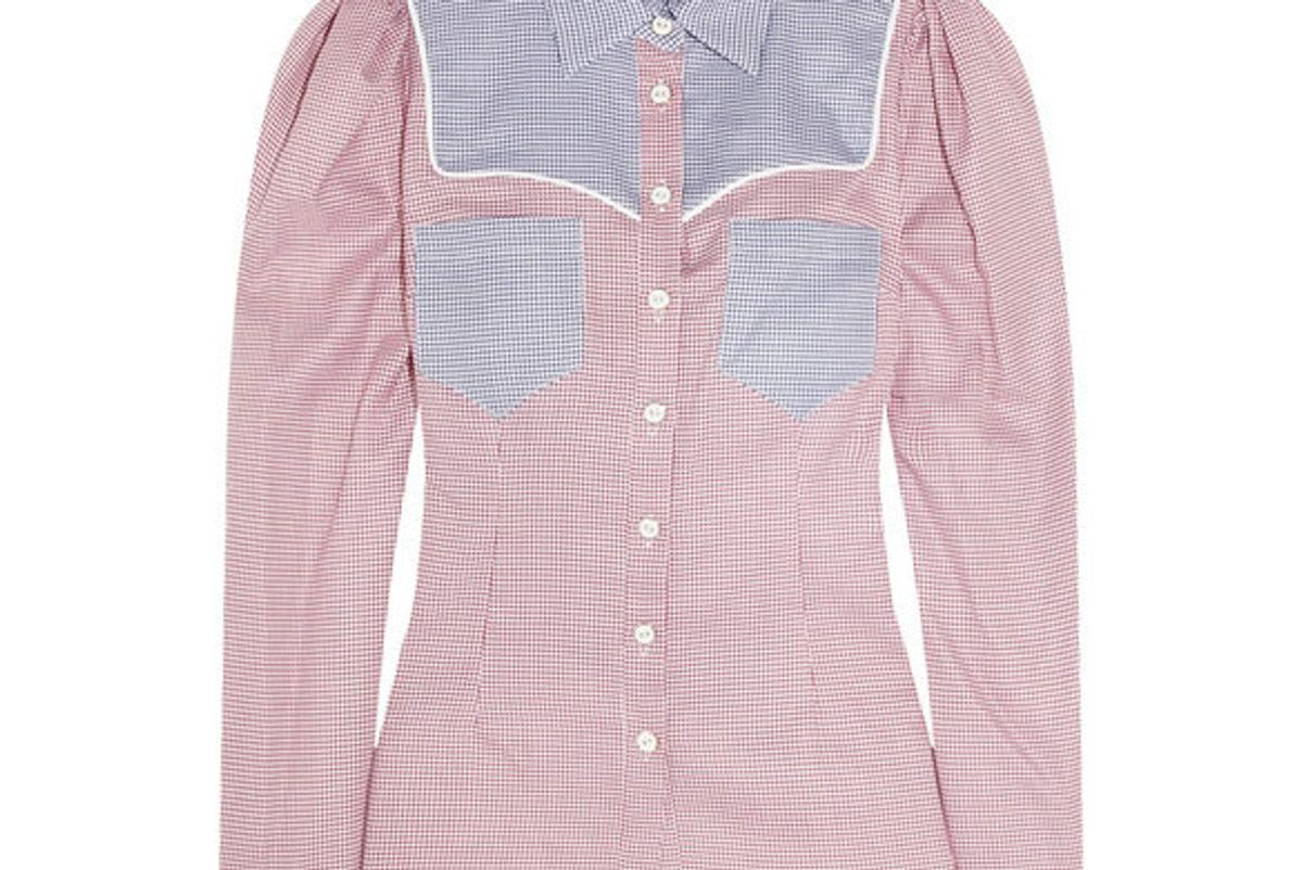 caroline constas clementine cotton shirt