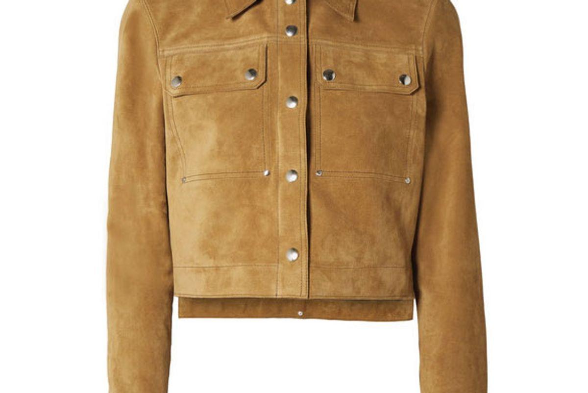 acne studios cropped suede jacket