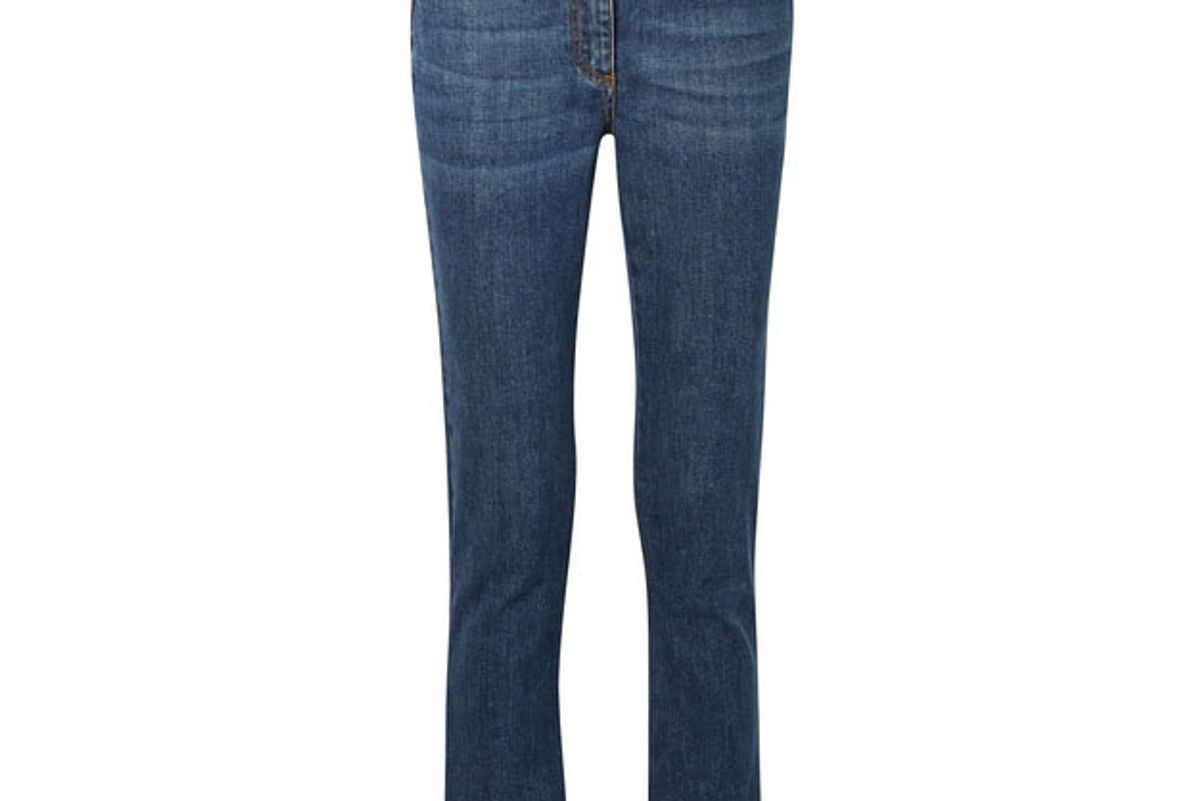 etro cropped embellished high-rise skinny jeans
