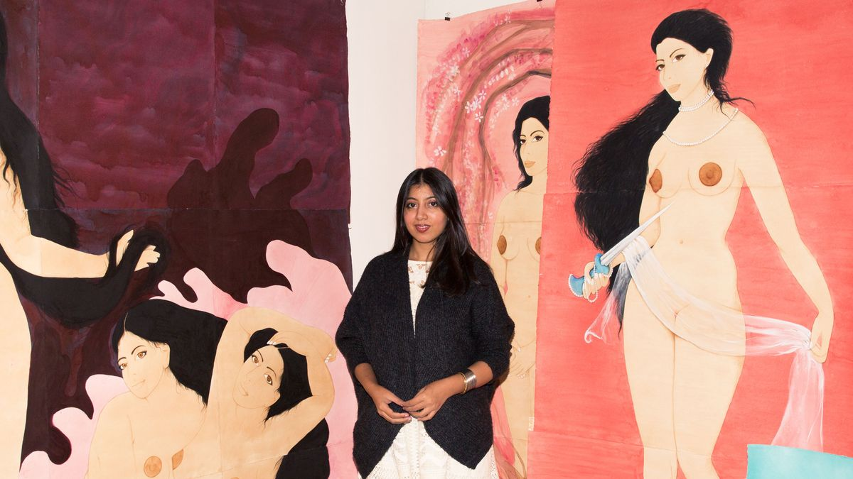 The Pakistani Artist Making Gorgeous Female-Centric Paintings in Brooklyn