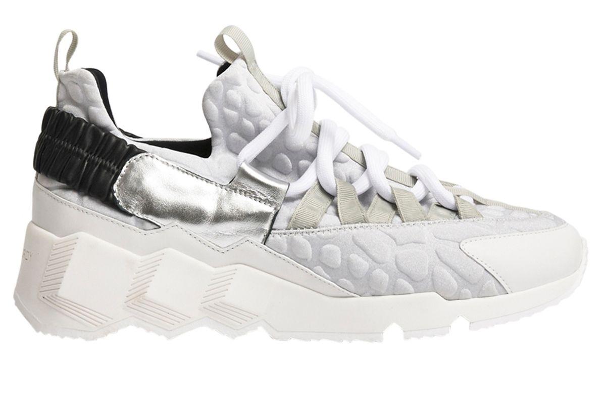 pierre hardy trek comet multi panel sneakers silver white