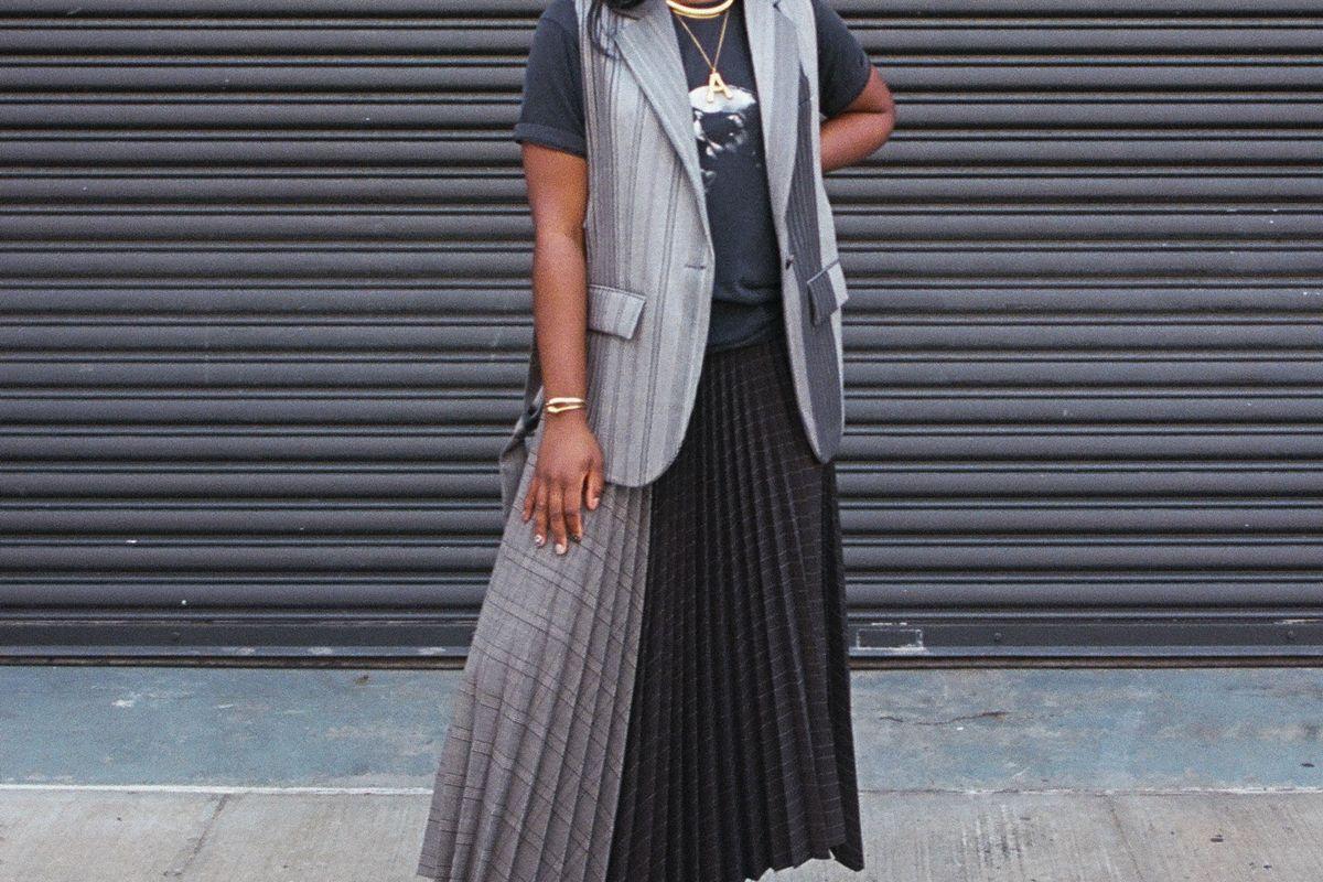 mrz pleated skirt set