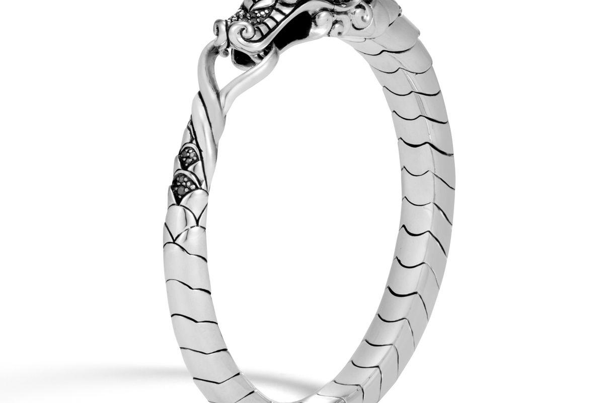 Naga Bracelet with Black Sapphire, Black Spinel