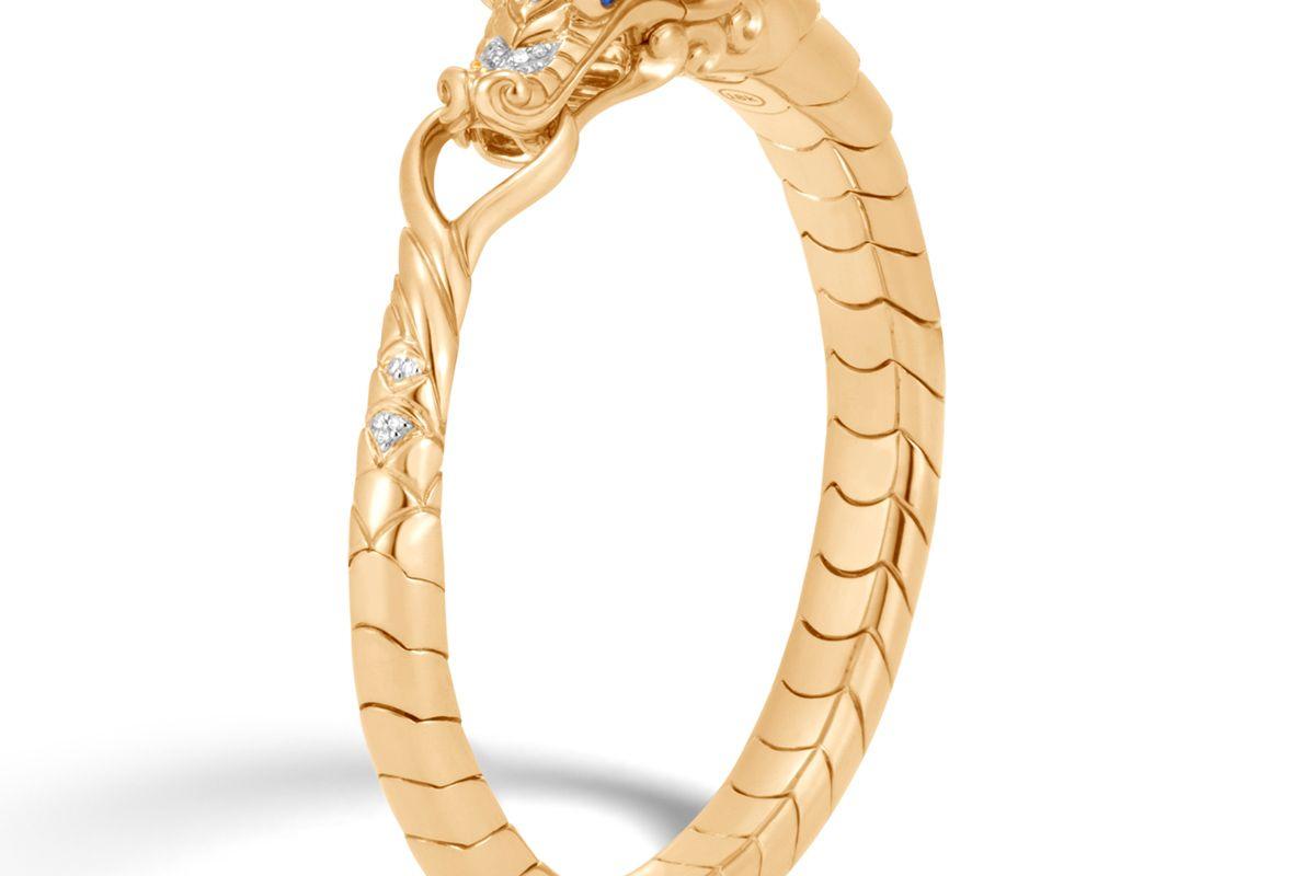 Naga Bracelet with Diamonds in Gold