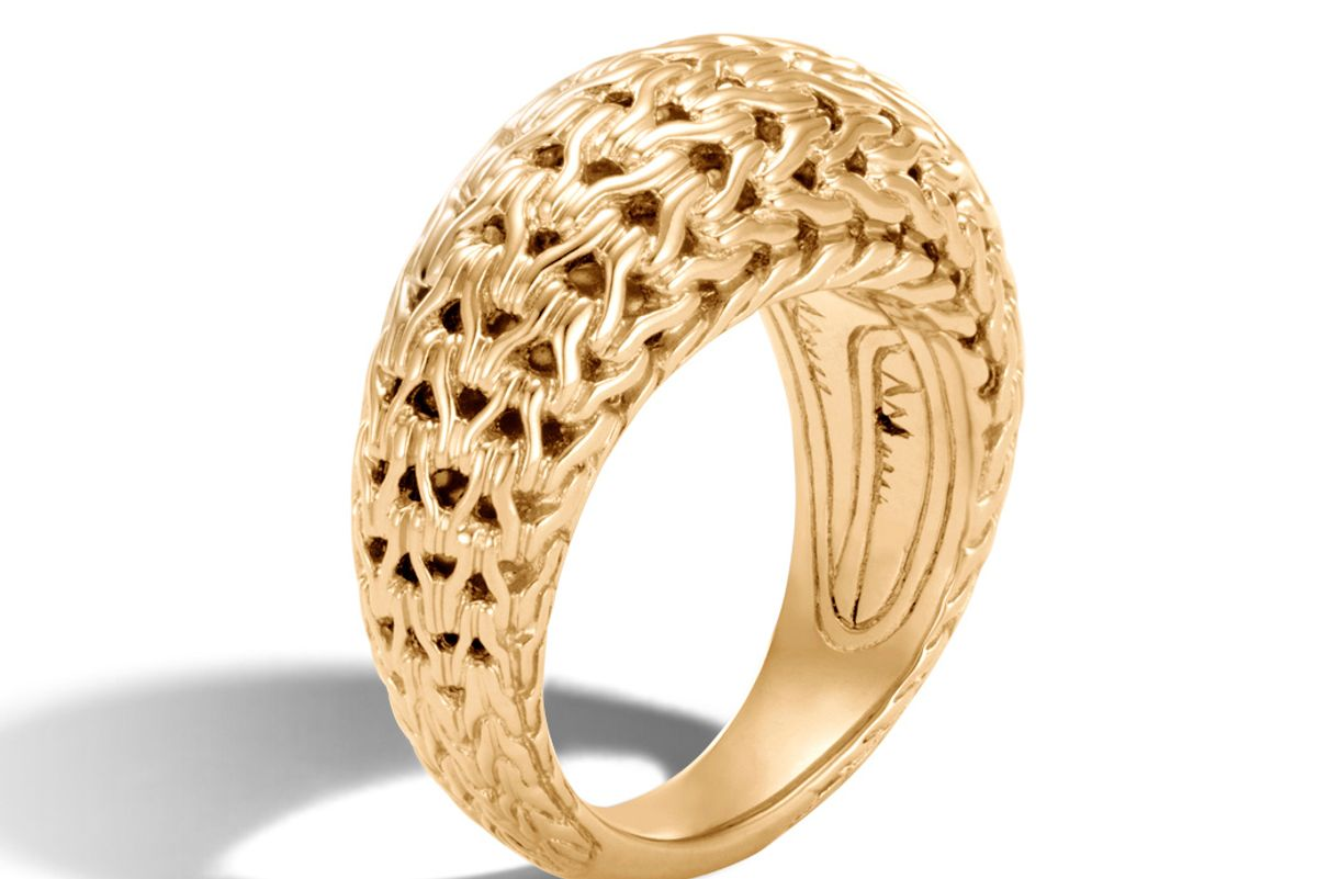 Classic Chain Dome Ring in Gold