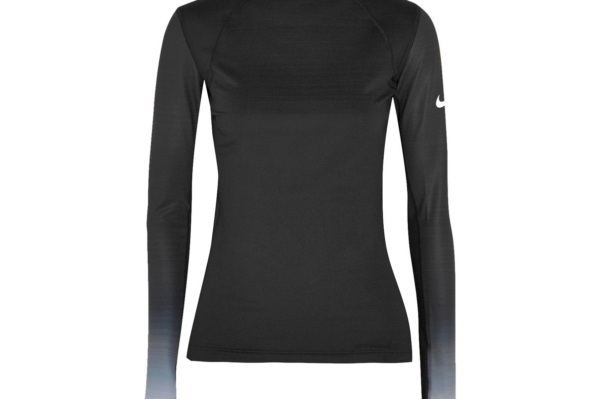 Pro Hyperwarm Mesh-Paneled Cotton-Blend Jersey Top