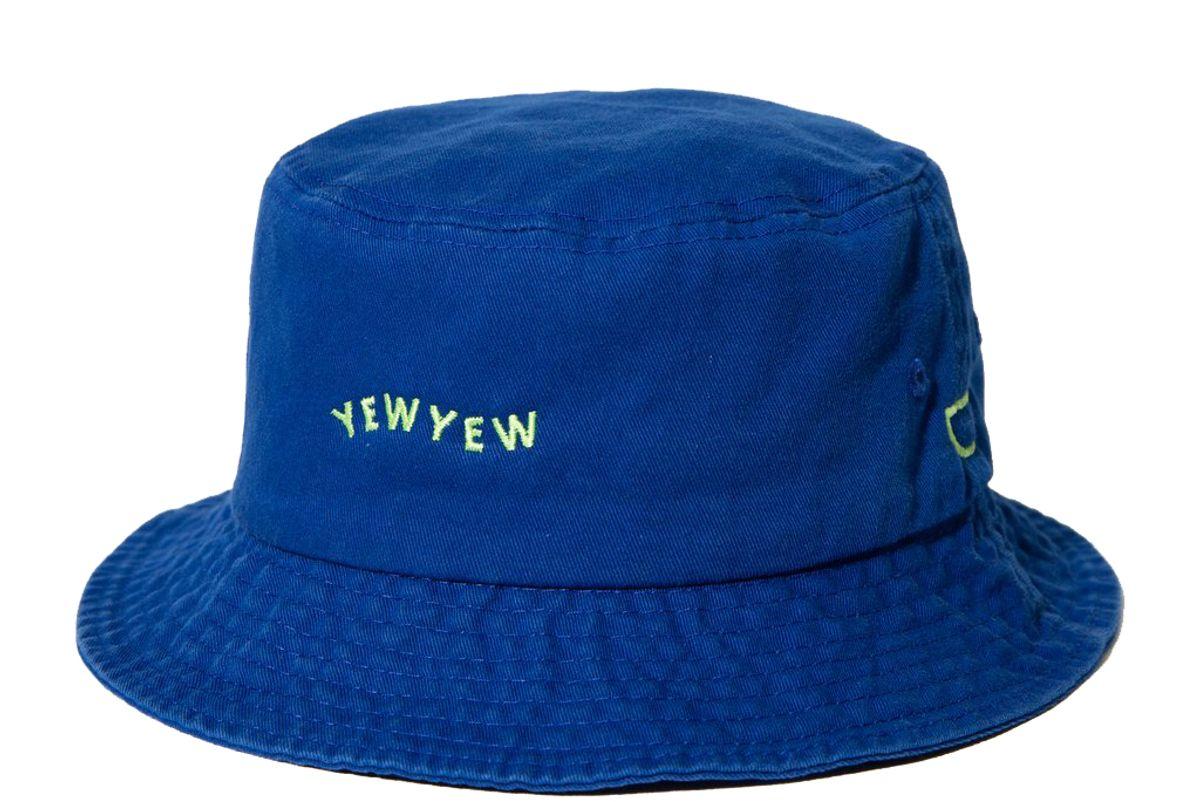 yew yew blue bucket hat