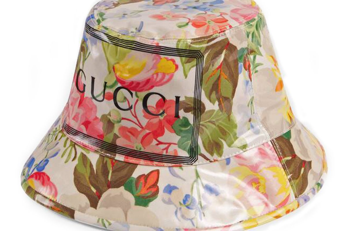 gucci bucket hat with floral print