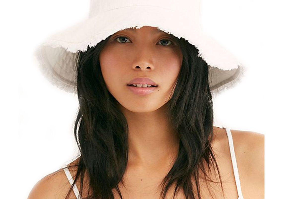 free people cast away fringe bucket hat