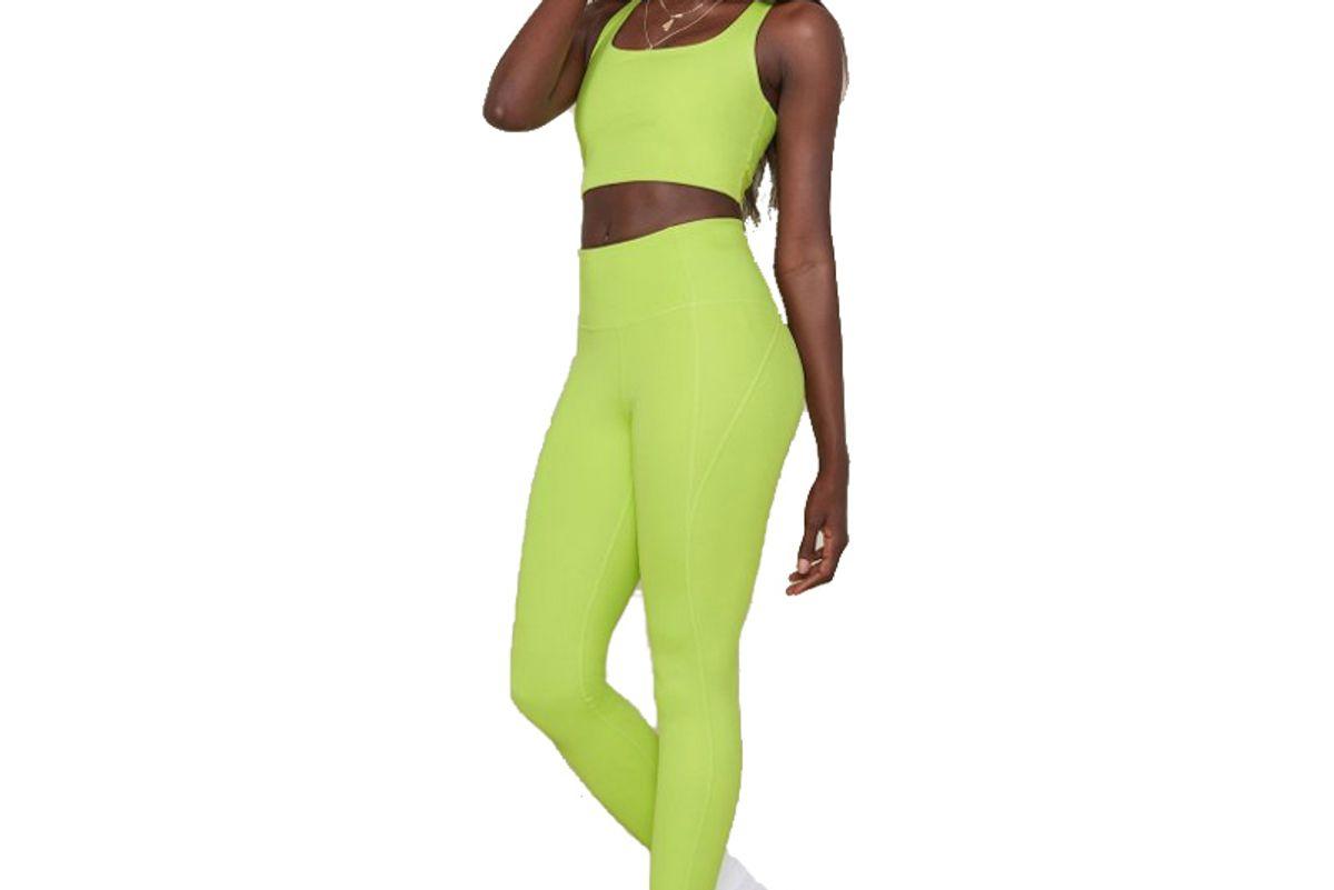 girlfriend collective lime compressive high rise legging