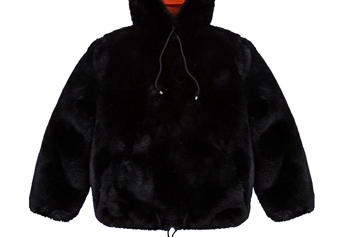 Fur Pullover in Black