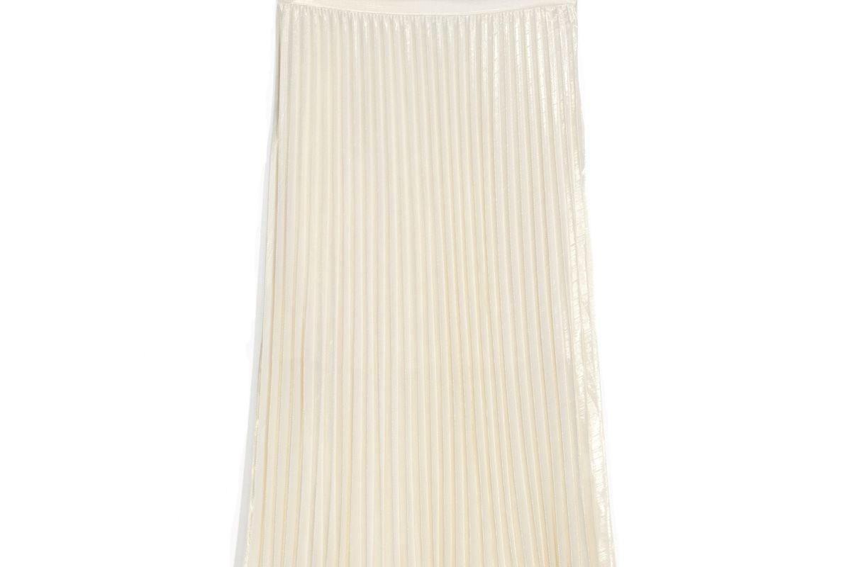 Pleated Skirt Gold