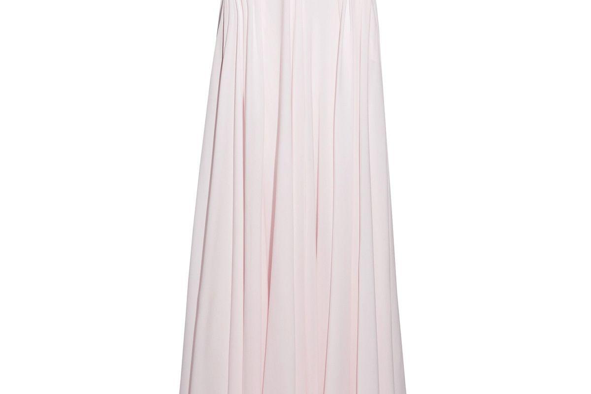 Fluted silk-georgette maxi skirt