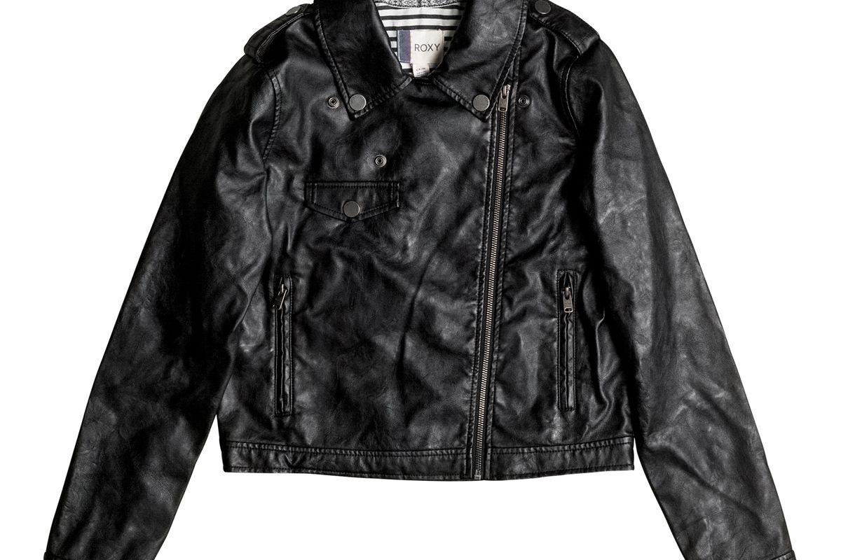 Midnight Ride Faux Leather Biker Jacket