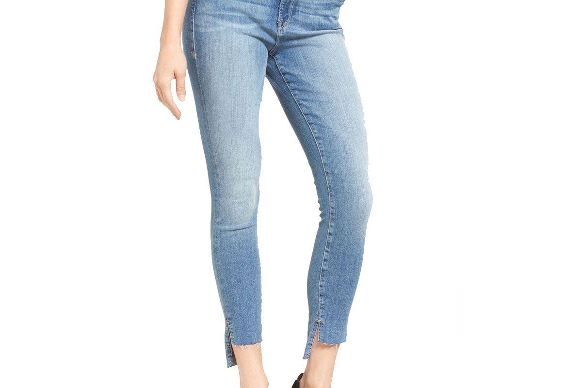 Good Legs Raw Step Hem Skinny Jeans