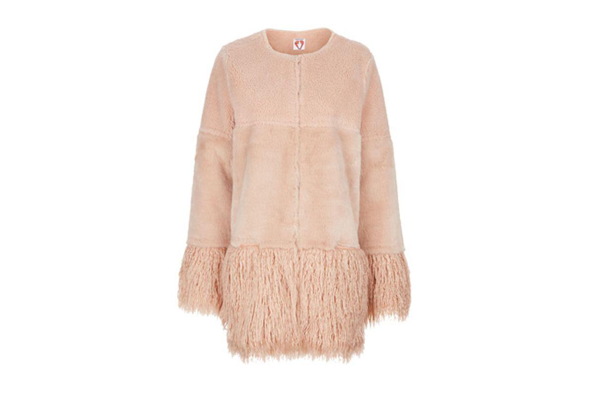 Blush Faux Fur Porgie Coat