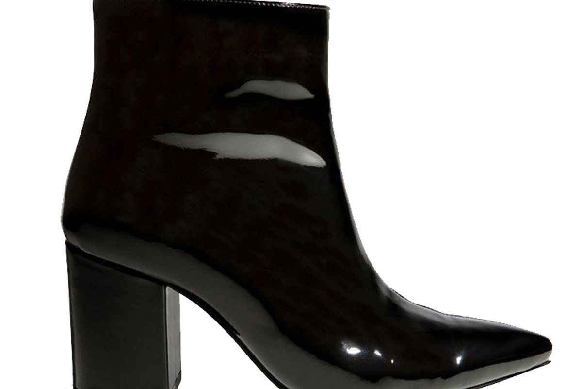 Natalie Boot in Black Patent