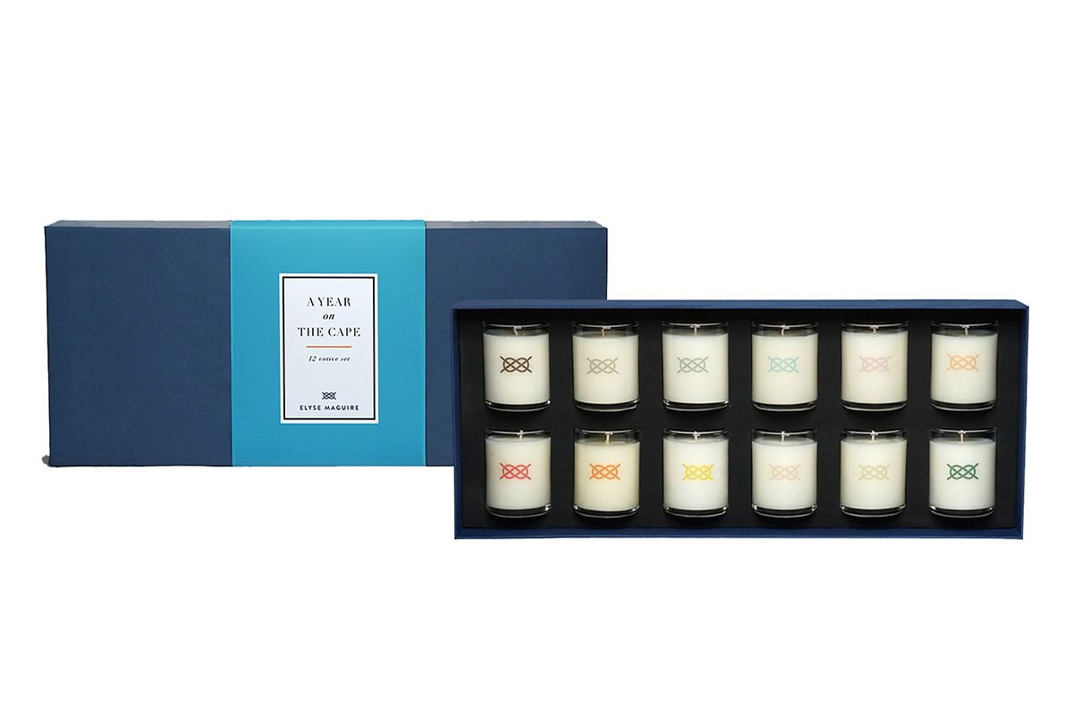 A Year On The Cape, 12 votive candle set