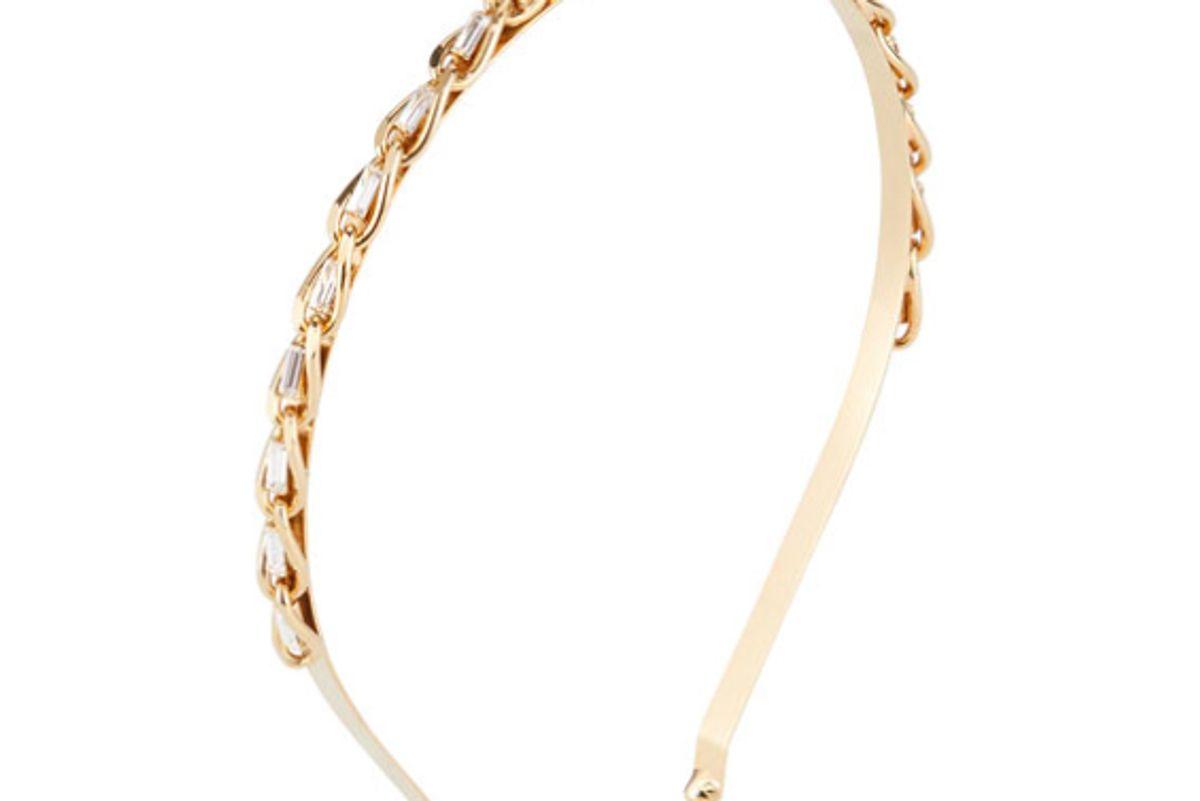 rosantica slim curb chain headband w crystal trim
