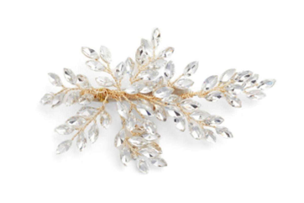 brides harpins sahara crystal leaf bendable hair clip