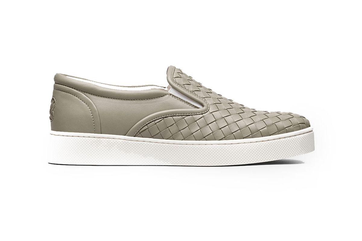 Dodger Sneaker in Fume' Intrecciato Nappa