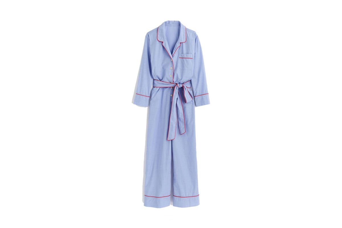 Tipped Pajama Jumpsuit