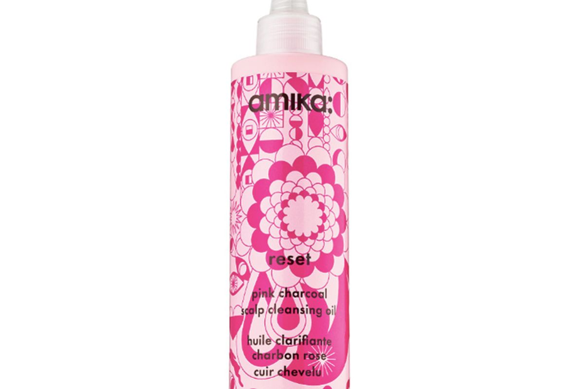amika reset pink charcoal scalp cleansing oil