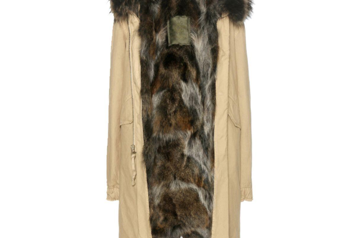 Fur-Lined Cotton Parka