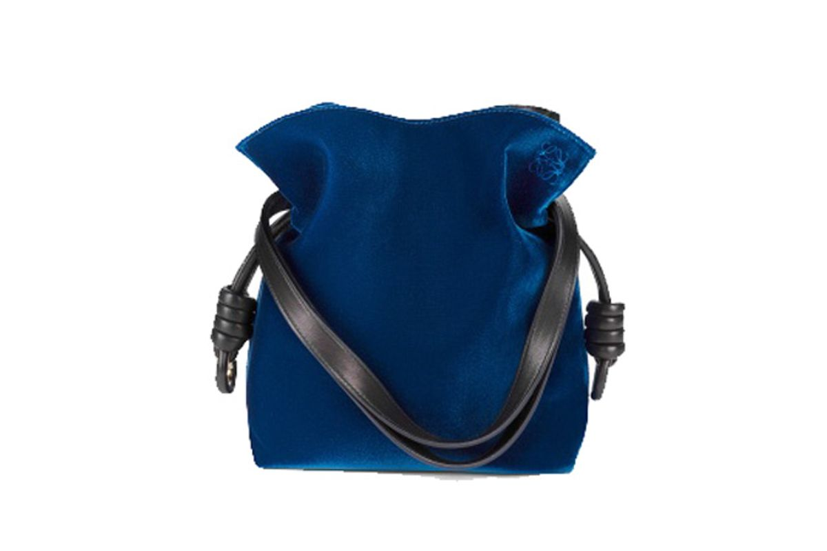 Flamenco Knot Small Bag Blue/Black
