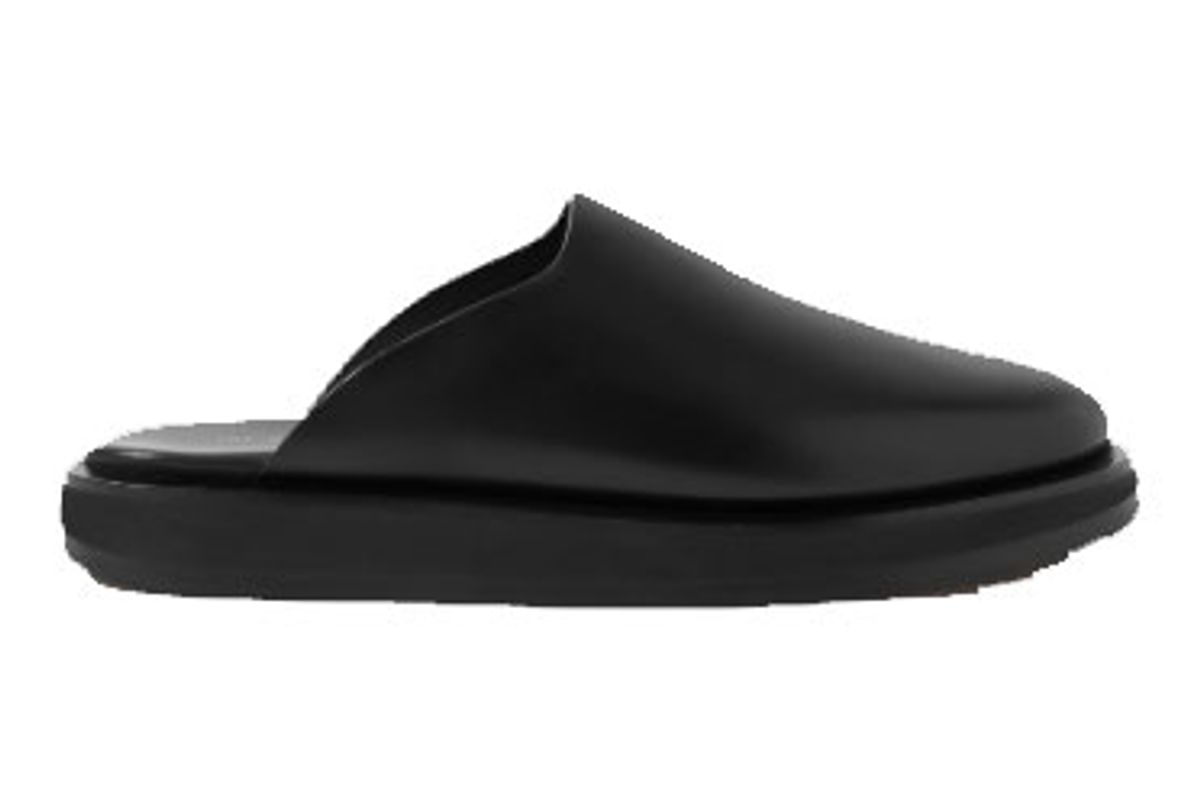 the row sabot leather mules
