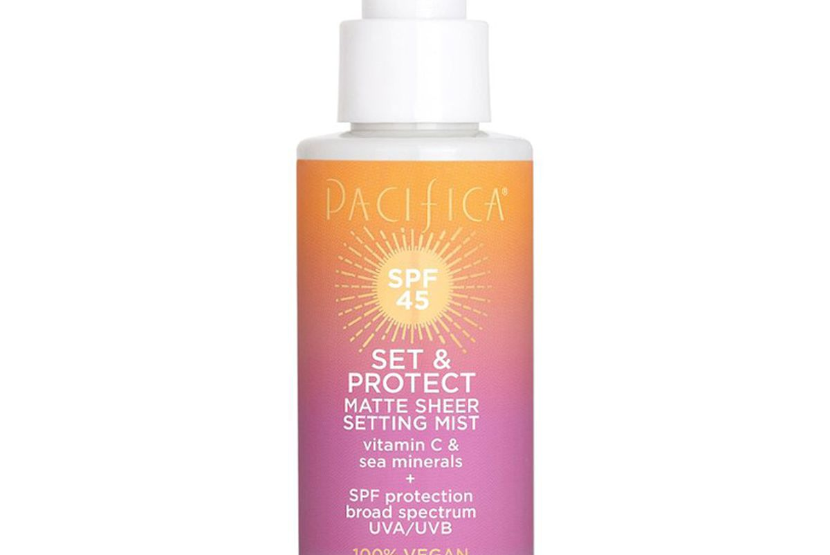 pacifica set and c protect spf 45 matte sheer setting mist
