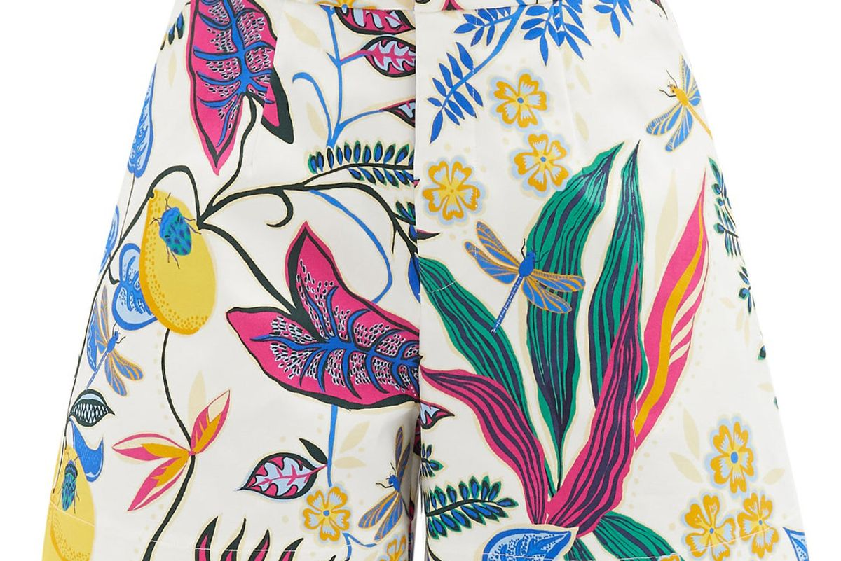 ladoublej good butt floral cotton blend shorts
