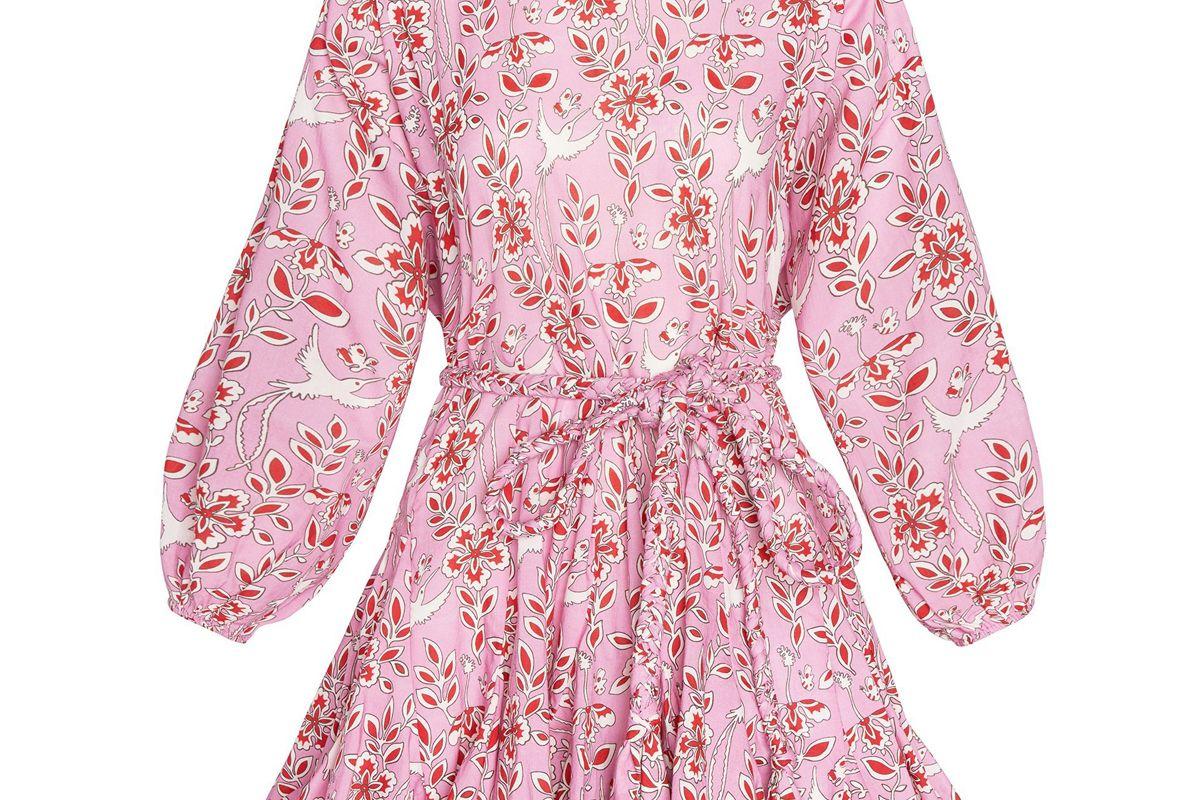 rhode ella dress pink eden