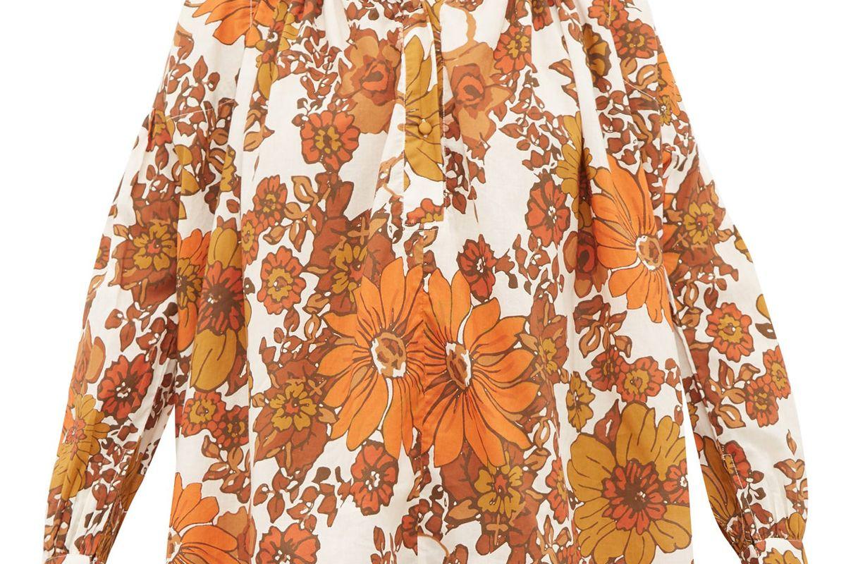 dodo bar or valerie floral print cotton blouse