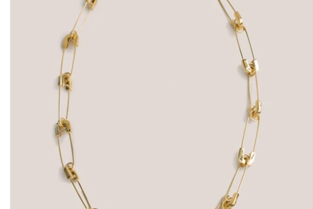 ambush safety pin link necklace