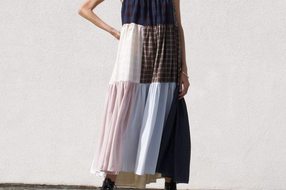 la reunion patchwork dress