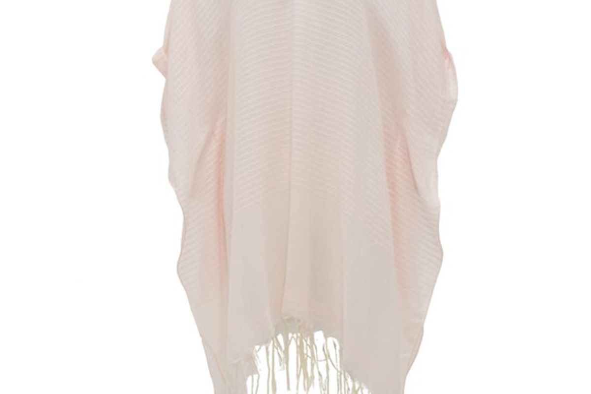 su paris luma fringed striped cotton voile kaftan