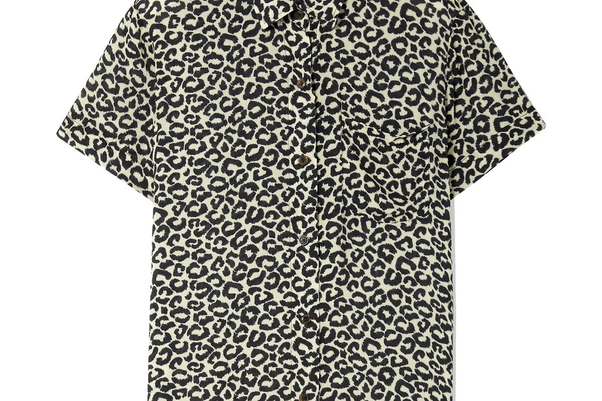 solid and striped cabana shirt leopard