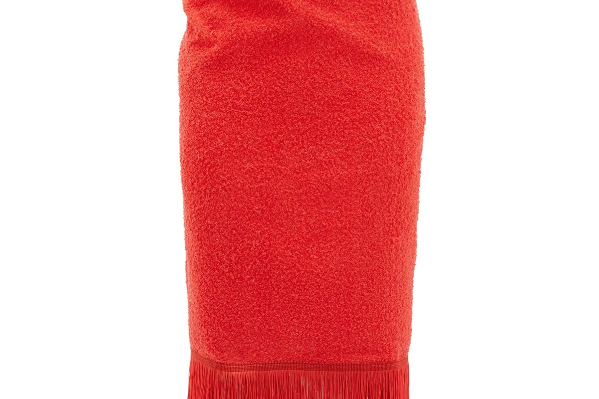 gabriel for sach pareo fringed cotton terry sarong
