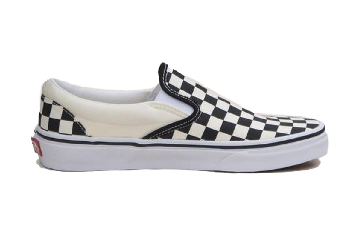 vans classic checkerboard slip on