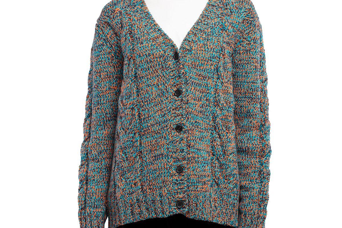prada tricolor knit cardigan