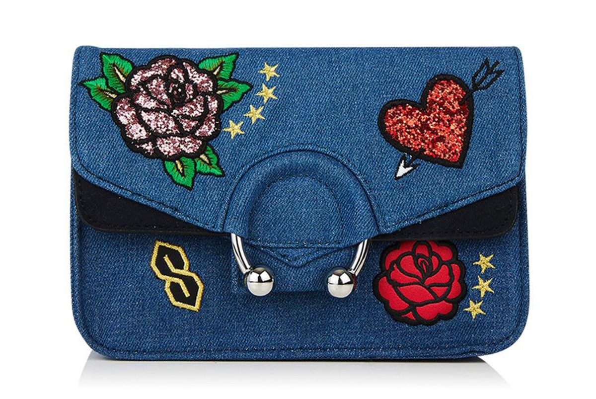 Denim City Embroidered Cross Bag by Skinnydip