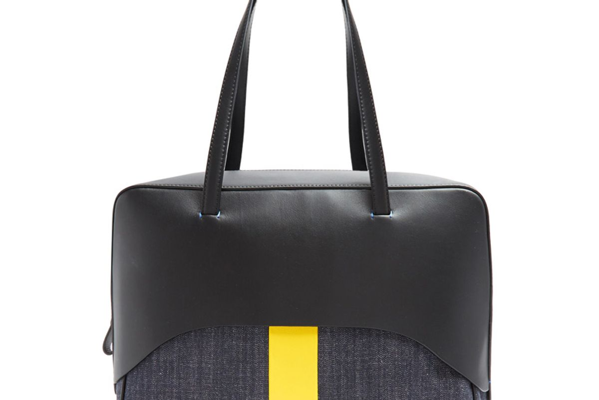Papa Leather and Denim Tote