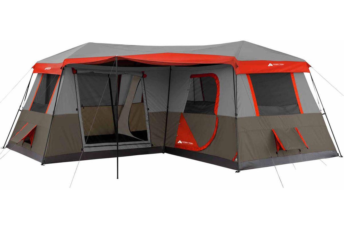 ozark trail 16 feet x 16 feet instant cabin tent sleeps 12