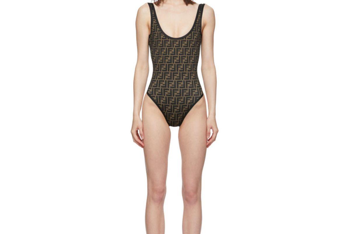 fendi reversible black forever fendi one piece swimsuit
