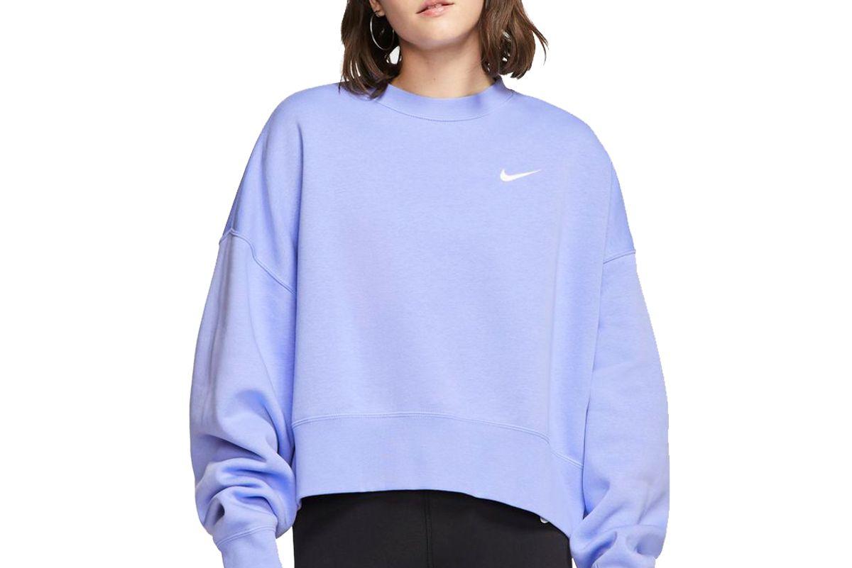 nike sportswear essential womens fleece crew