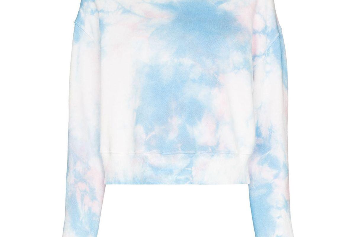frankies bikinis burl tie dye hoodie